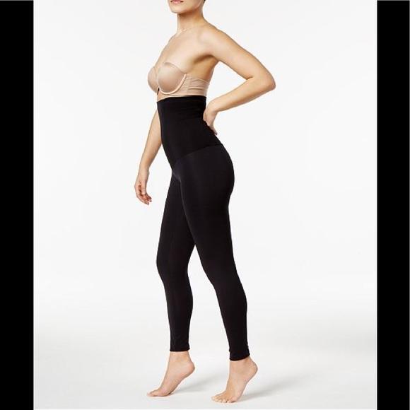 52337272af341 Leonisa High-Waist Firm Tummy-Control Leggings Blk
